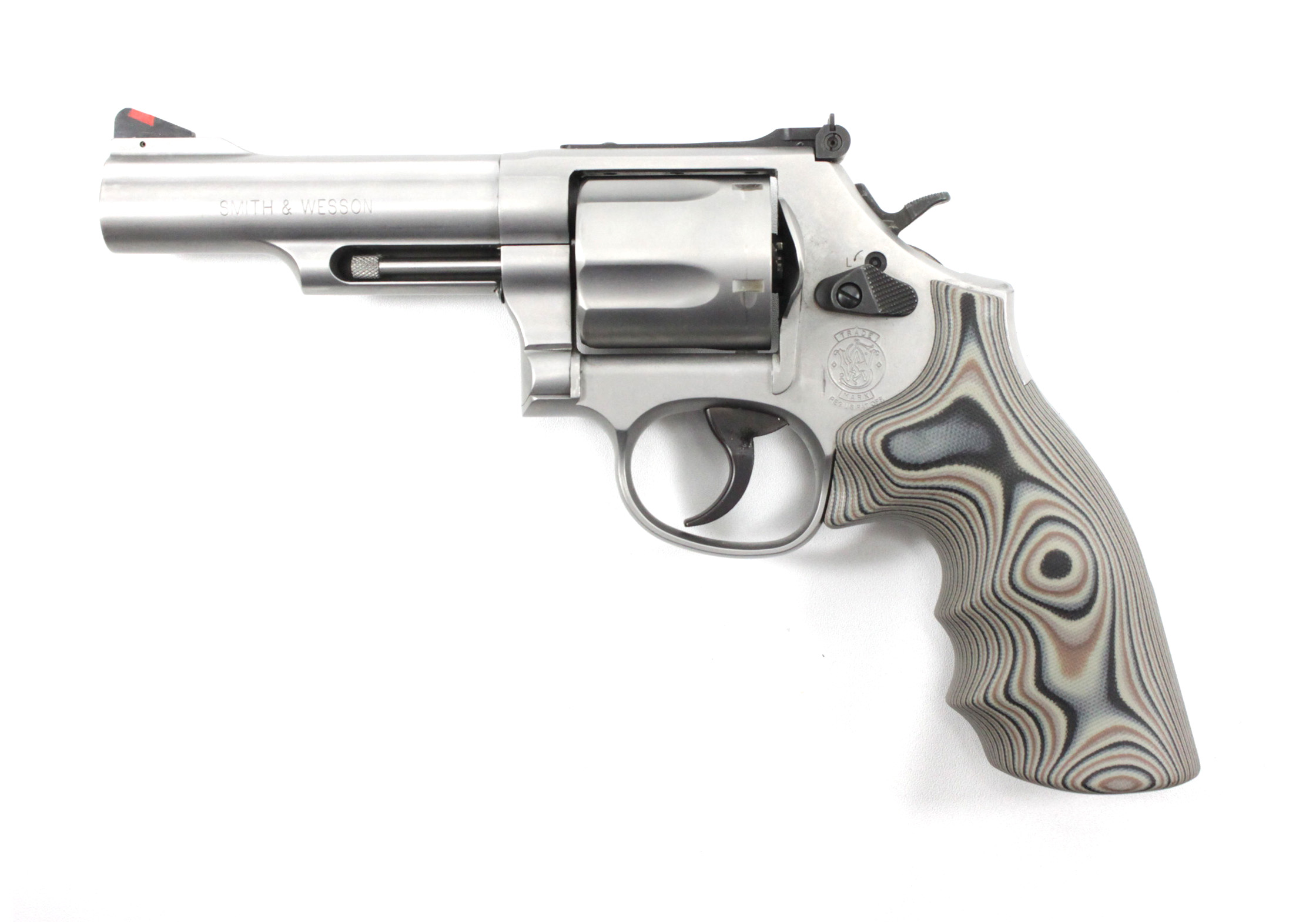 Smith & Wesson K/L Frame Round Butt Conversion Finger Grooves Grip ...