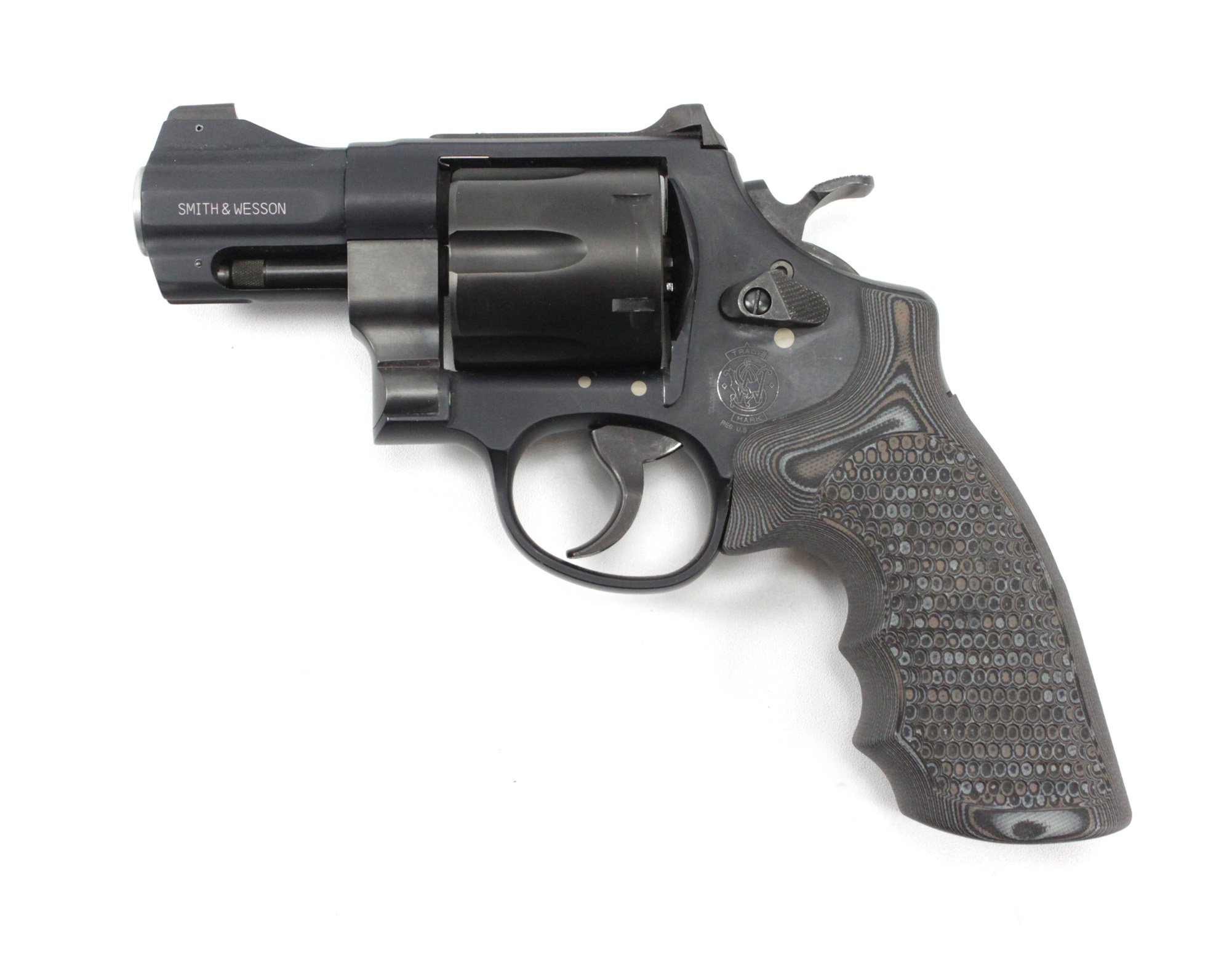 Smith & Wesson N Frame Round Butt Conversion Finger Grooves Grip G10 ...