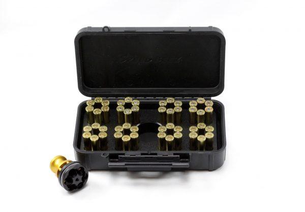 SPEED BEEZ® Smith & Wesson .38 Special 357 Magnum (Model 10, 66) K Frame Six-Shot Speedloader, Loading Block, Case - Bundle