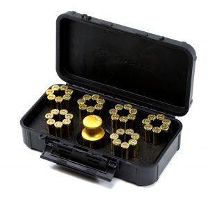 SPEED BEEZ® Smith & Wesson 38 Special 357 Magnum L Frame (Model 686 Plus) 7 Shot Speedloader, Loading Block, Case - Bundle